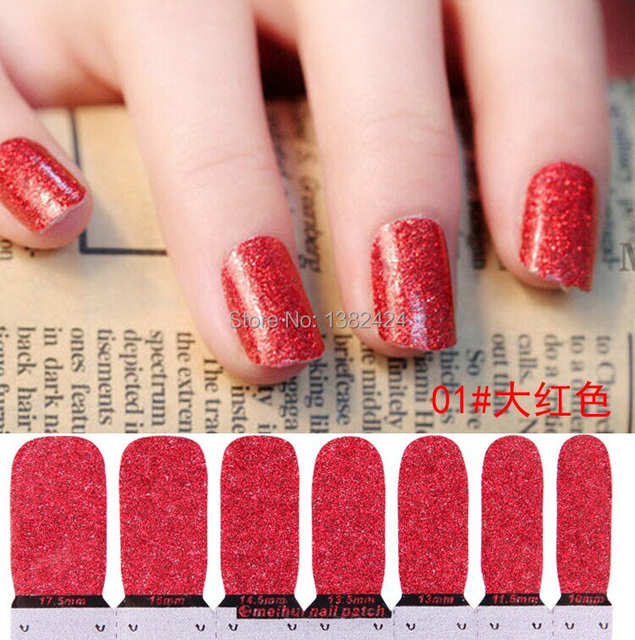 Donkerrood Glitter Nail Art Stickers 3d Nail Stickers Decals Patch