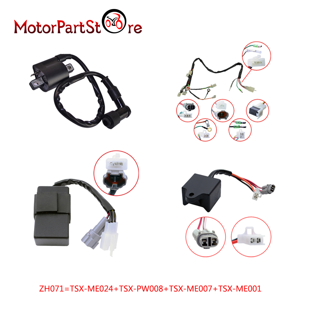 medium resolution of wireloom wire loom harness ignition cdi control unit coil fit yamaha pw50 py50 bike 20