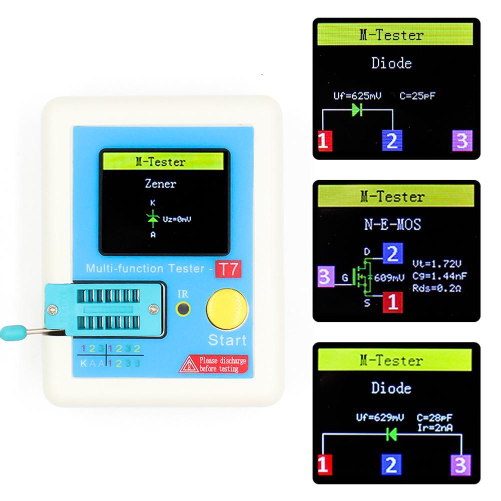 LCR-T7 ESR Диод Триод Емкость Mos Транзистор тестер+ Корпус измеритель емкости - Цвет: blue