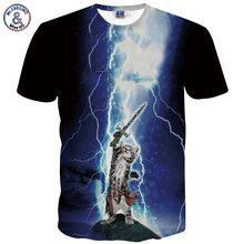 Fashion Men/Women 3D T-shirt Funny Print Lightning Cat Michael Jackson T Shirt Summer short sleeve Hip Hop Tops Cool Rock Tees