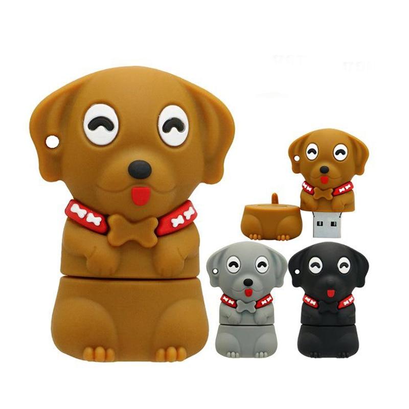 Pendrive Cartoon Dogs Usb Stick Pen Drive 4GB 8GB 16GB 32GB 64GB Cute Pet Dog Memory Stick Creative Gift  Usb Flash Drive 128GB