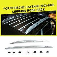 Car Alloy Aluminium Top Luggage Carrier Rail Bar Fit For Porsche Cayenne 2003 2006