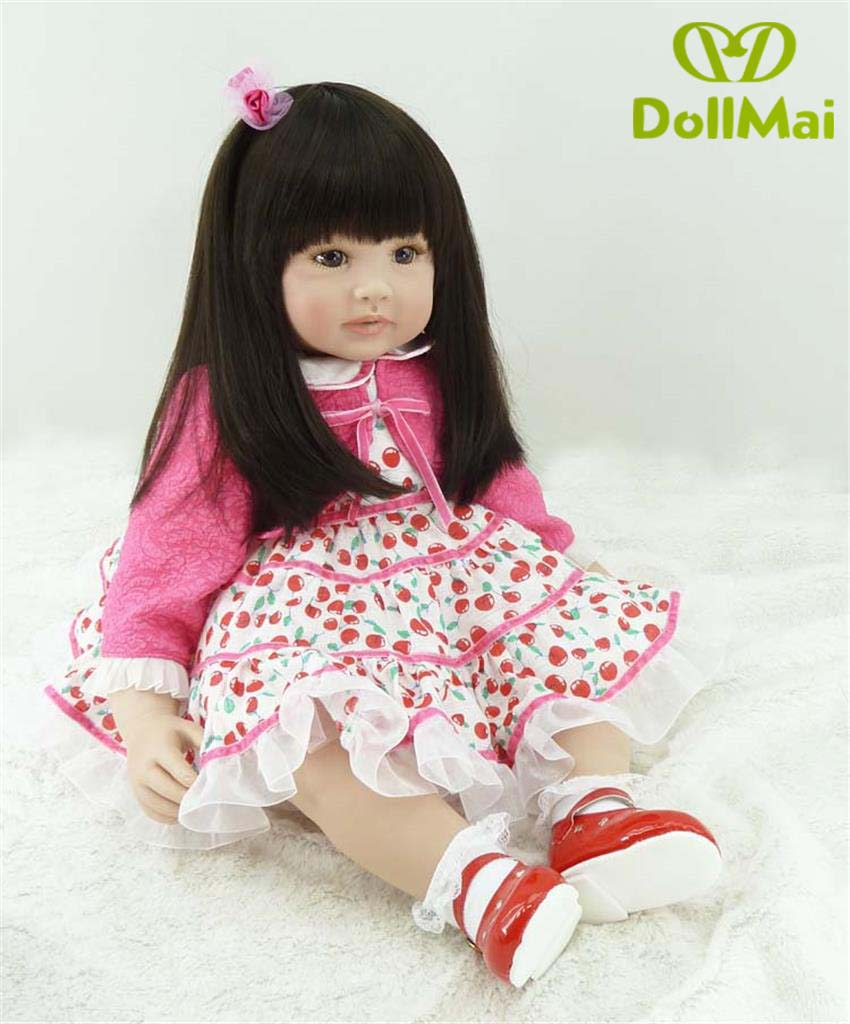 Boutique 60cm Silicone baby reborn dolls, lifelike doll reborn babies toys for girl pink princess gift brinquedos for kidsBoutique 60cm Silicone baby reborn dolls, lifelike doll reborn babies toys for girl pink princess gift brinquedos for kids