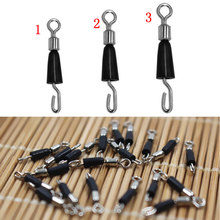30pcs Ball Bearing Swivel Solid Rings Fishing Connector Hooks Quick Fast Link(China)