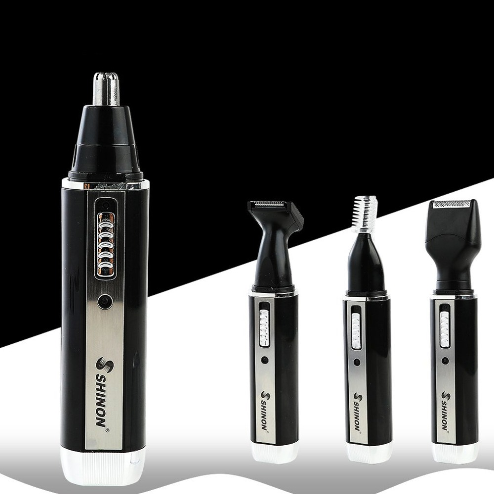 SH 2051 Multifunction 4 In 1 Electric Men Ear Nose Trimmer Rechargeable Portable Hair Clipper Shaver Beard Eyebrow Trimmer in Nose Ear Trimmer from Beauty Health