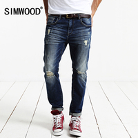 Simwood 2016 New Arrival Men S Jeans Male Casual Trousers Cotton Slim Fit Autumn Winter Free