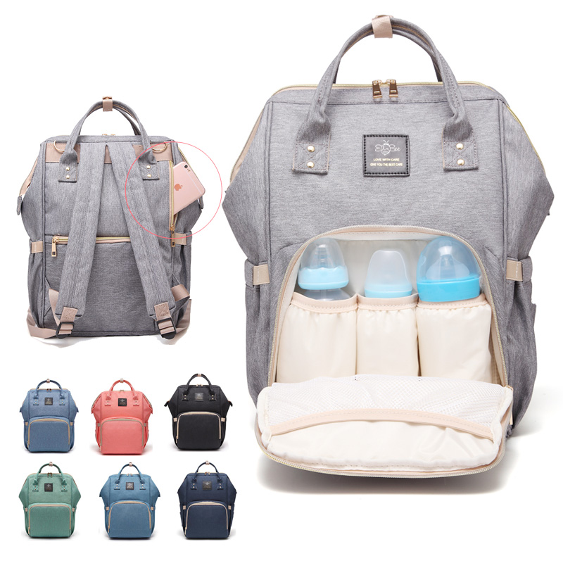 Upgraded Diaper Bag Multi-Function Waterproof Travel Backpack Nappy Bags For Baby Care Large Capacity Stylish And Durable