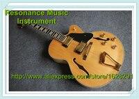 Vendita caldo L5 Chitarra Elettrica Su Ordinazione di Jazz Hollow Body Natural Color In Magazzino Per La Vendita