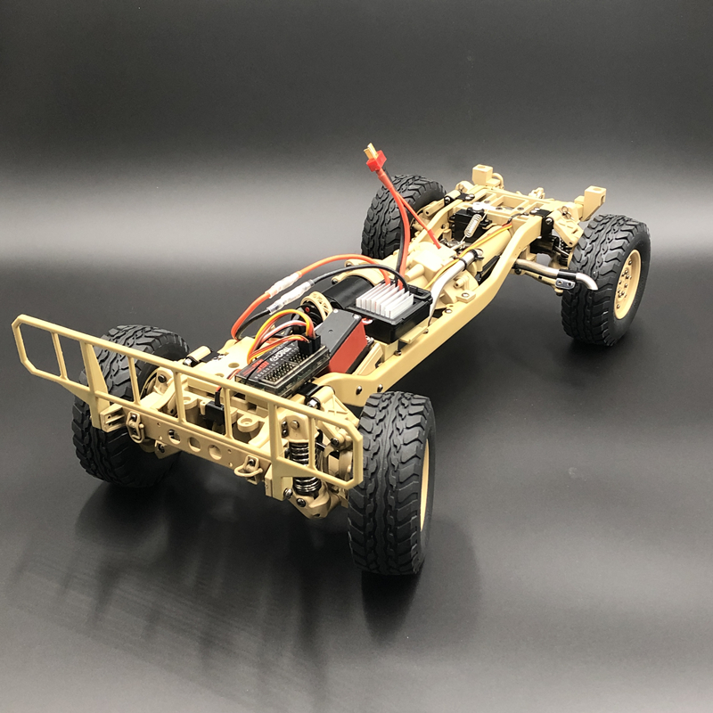 Image 3 - u.s.4X4MILITARY VEHICLE M1025 Humvee 1/10 rc Metal Chassis Off road vehicle car HG P408 Upgraded Light Sound FunctionRC Cars   -