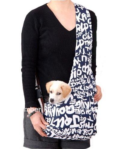 Blue Pet Dog Sling Carrier Canvas Bag Dogs Carrier Bag Pet Carriers Outdoor Storage Supplies Soft Travel Bag drop shipping