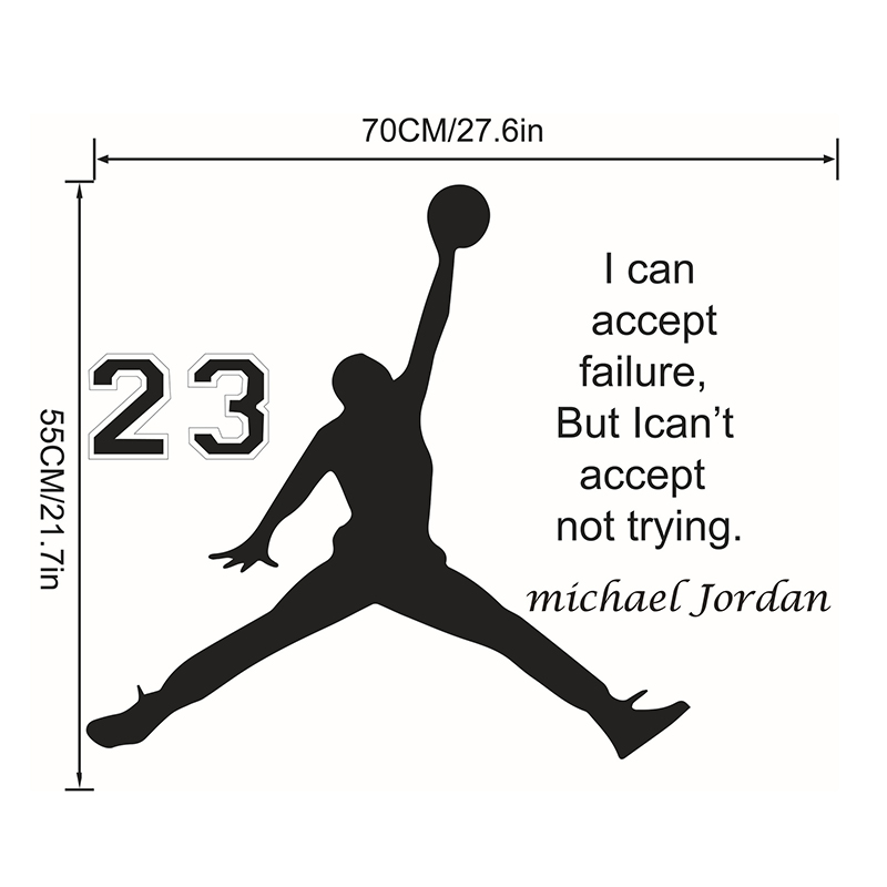 Jordan 23 Basketball Inspirational Englisch Zitate