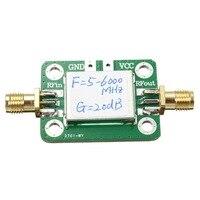 1PC 5 6000MHZ Gain 20dB RF Ultra Wide Power Amplifier Module With Shell Board Module Wholesale