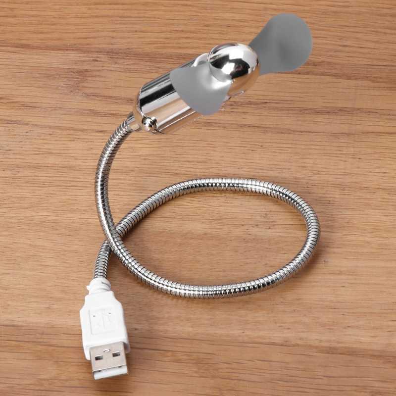 Mini ventilateur de refroidissement USB Flexible à économie d'énergie avec interrupteur pour ordinateur portable