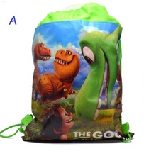 New carton non-woven fabrics of the good dinosaur, drawstring backpack, event & party gift bag, shopping bag,vest bag