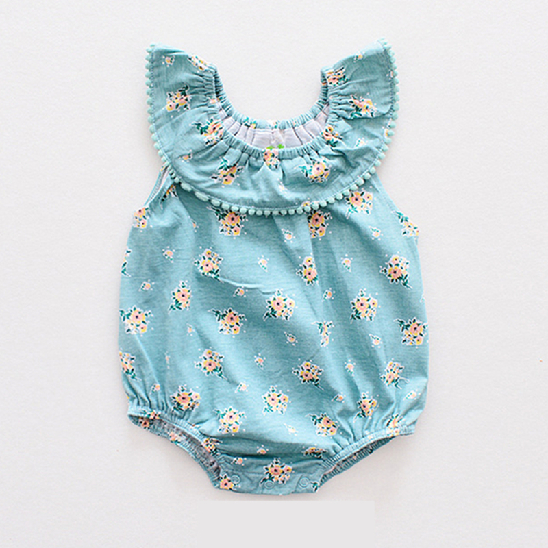 Baby Girl Clothes Summer Flora Baby Rompers Newborn Baby Clothes Baby Girl Clothing Sets Roupas Infant Jumpsuits Kids Clothing