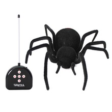 Новинка Творческий многофункциональный высокая моделирования управления крест паук Дистанционного управления паук Электрические игрушки Животных модель игрушки для детей