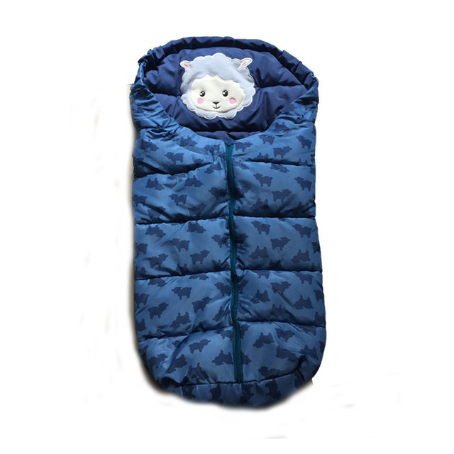 Us 30 61 33 Off Winter Sleeping Bags Baby Envelope For Stroller Newborn With Glove Infant Envelonp Kids In