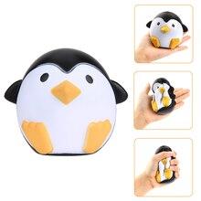 Mini Squishy Penguin Kawai Aranyos Állat Lassú Éjszakai Édes Illatos Vent Charms Kenyér Cake Kid Toy Doll Fun Ajándék Baby