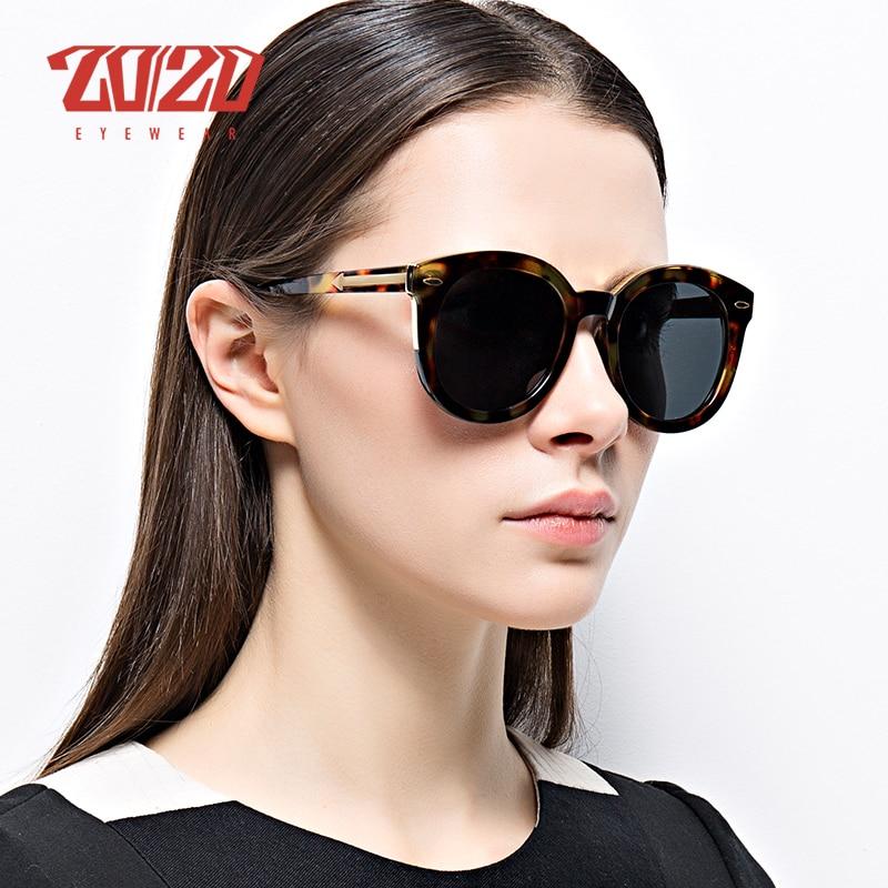 20/20 Brand Design Fashion Polarized Sunglasses Women Retro Vintage Round Sun Glasses UV400 Shades 6589