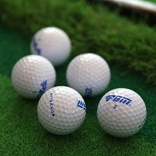 2Pcs Golf Balls Beginners Practice Driving Range Training Double Layer Ball Rubber 6Q47
