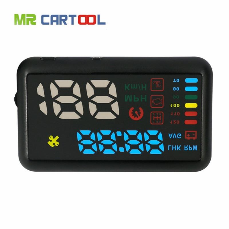 imágenes para AUTOOL X200S Car styling Coche Universal hud head up display OBD2 velocímetro Inteligente Digital del velocímetro del coche OBD2 Interfaz