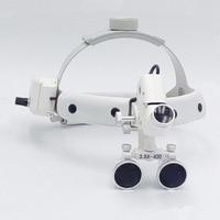 3.5 ingrandimento ad alta intensità led lente di ingrandimento dentale chirurgo funzionamento ingranditore clinico medico chirurgico lente di ingrandimento con faro