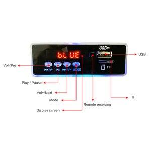 Image 3 - AIYIMA 12 فولت الأزرق LED MP3 محلل شفرة سمعي مجلس ضياع FLAC APE 4.2 بلوتوث فك مع جهاز التحكم عن بعد TF بطاقة راديو FM
