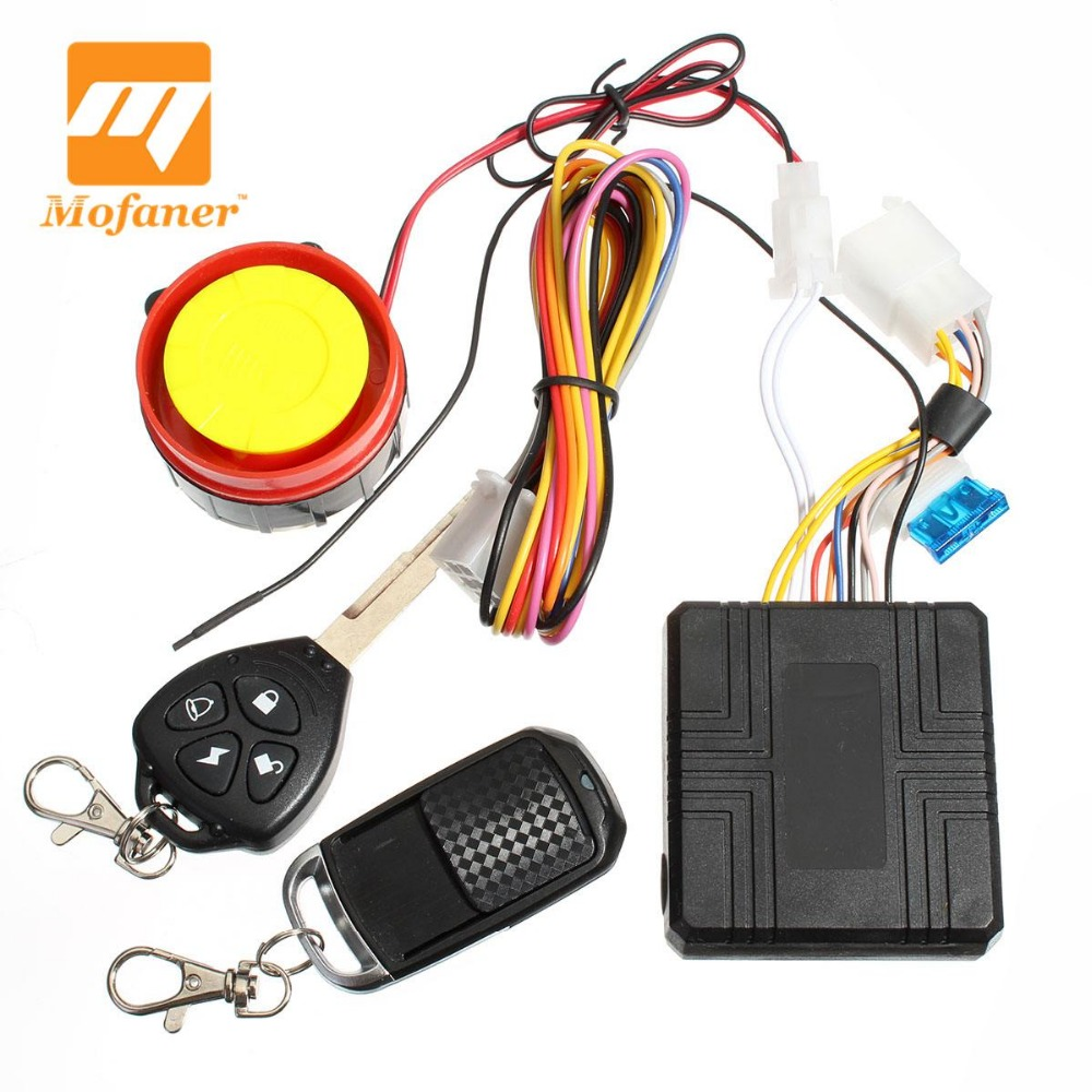 12v Universal Motorcycle Motorbike Scooter Compact Security Alarm System Remote Control Engine Start