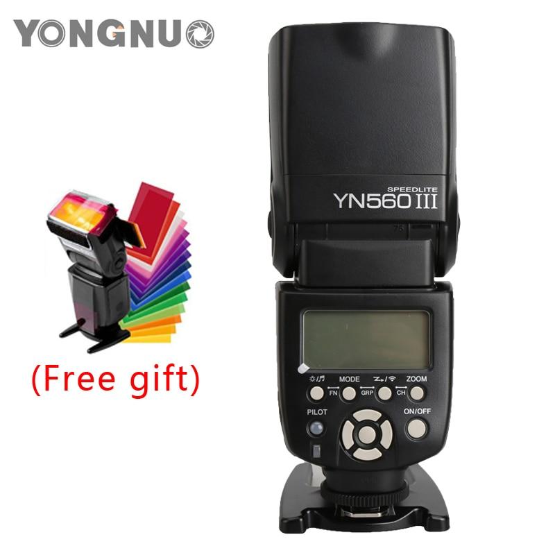 YongNuo YN560-III YN560 III GN 58 Flash light Speedlite Speedlight for Canon Nikon Pentax Olympus DSLR Camera YN560III yongnuo yn 565ex n flash speedlite yn565ex n i ttl light for nikon dslr camera or pixel vertax d17 battery grip for nikon d500