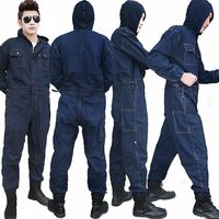 Men Workwear Mechanic Jumpsuit Protective jeans Coveralls Overalls Trousers