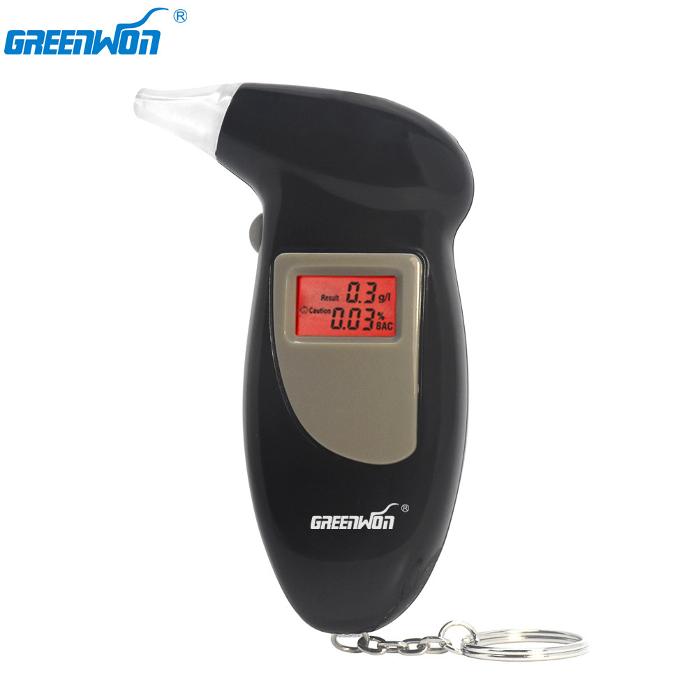 GREENWON digital alcohol tester breath alcohol tester breathalyzer breathalyser alcohol breath tester