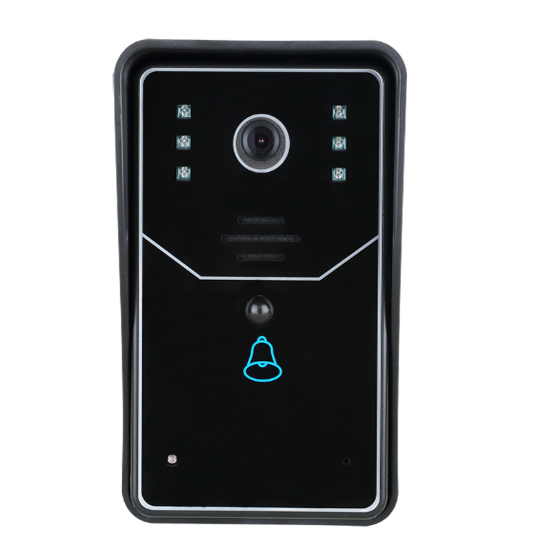 Touch Key WiFi Doorbell Wireless Video Door Phone Home Intercom System IR RFID Camera EU Plug встраиваемый электрический духовой шкаф hansa boes68411