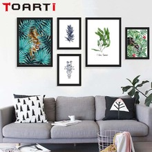 Nordic Natural Animals Bird Elephant Plant Tropical Leaf Art  Canvas Poster A4 Wall Picture Modern Home Decoration No Frame