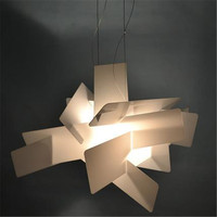 Modern Foscarini Lights White/ Red Big Bang Pendant Lights Acrylic Dining Lamps E27 Bulbs Cafe / Bar Lights Free Shipping