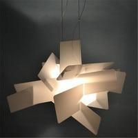 New Nordic Design Big Bang Pendant Lights Creative Art Stack Acrylic Parlor Kitchen Dining Table Hanging Light Fixtures