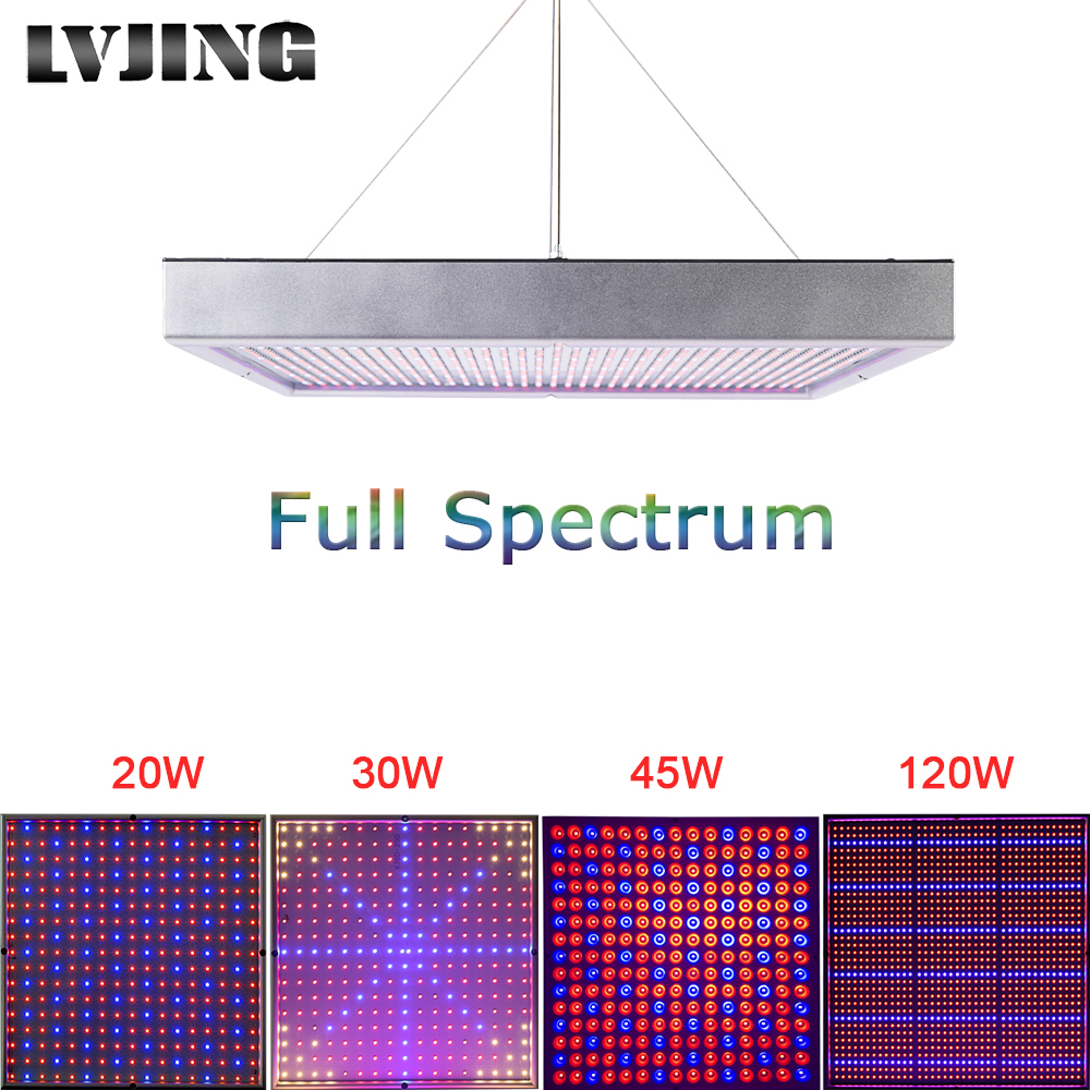 20W / 30W / 45W / 120W / 200W High Power Plant lamp AC85 ~ 265V Full Spectrum LED Kasplanten Hydrocultuur Bloempaneel Licht groeien