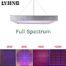 20 W/30 W/45 W/120 W de Alta Potencia de la Planta de la lámpara AC85 ~ 265 V Completo espectro LLEVÓ Plantas de Invernadero Hidroponía Flor Crece La Luz Del Panel