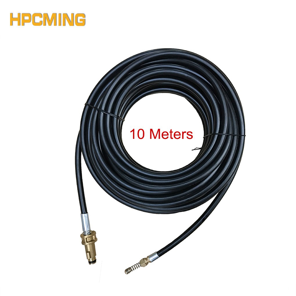 2018 For Bosch Adapter High Quality Sewer Jetter Hose 10 Meters Working With Pressure Washer Gun Water Cleaning Hose (mosh008) цена