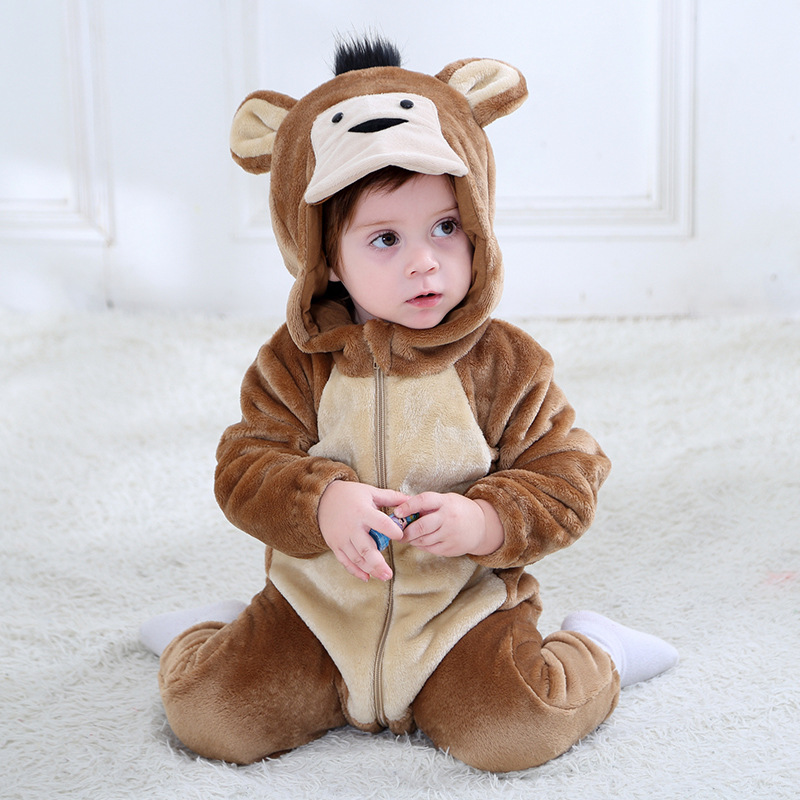 Home Children Wear Newborn Toddler Baby Animal Romper Outfits Cute Dog Jumpsuit Costume Soft Flannel Clothe For Boy And Girl Anime Modern Design
