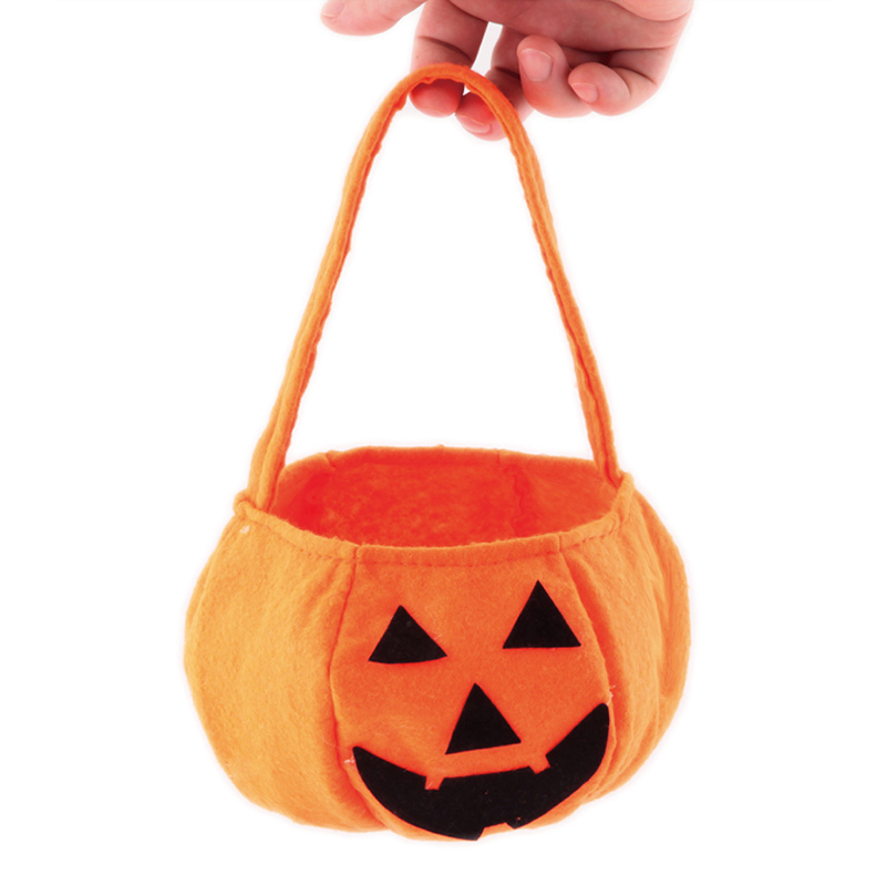 fun kids baby smile pumpkin candy bag novelty toys for children halloween festival trick treat party decoration game cute gifts