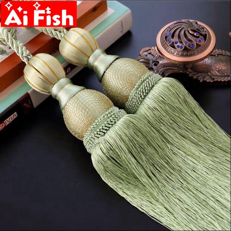 2 darab / pár luxus otthon dekoráció függöny klipek tartozékok függő öv labda függöny szíj póló nyakkendő csat CP063-20