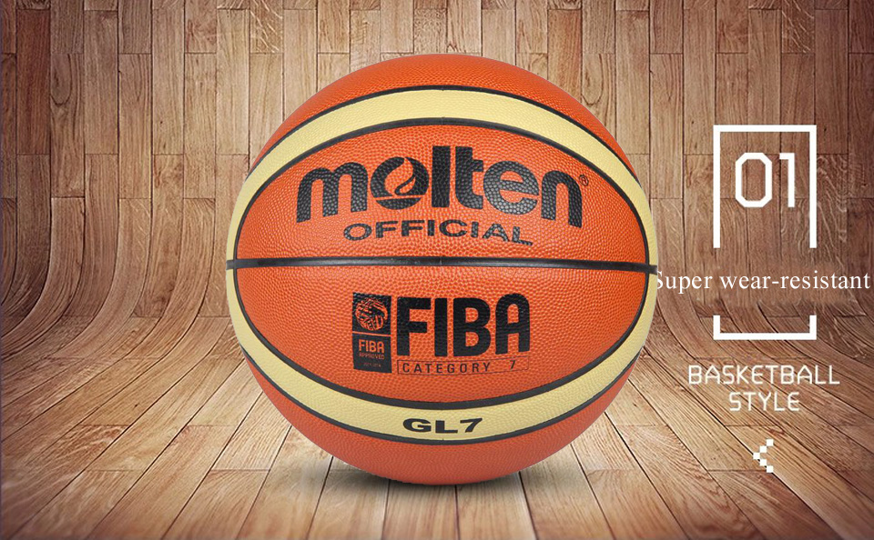 Wholesale or retail NEW Brand Cheap  GL7 Basketball Ball PU Materia Official Size7 Basketball Free With Net Bag+ Needle