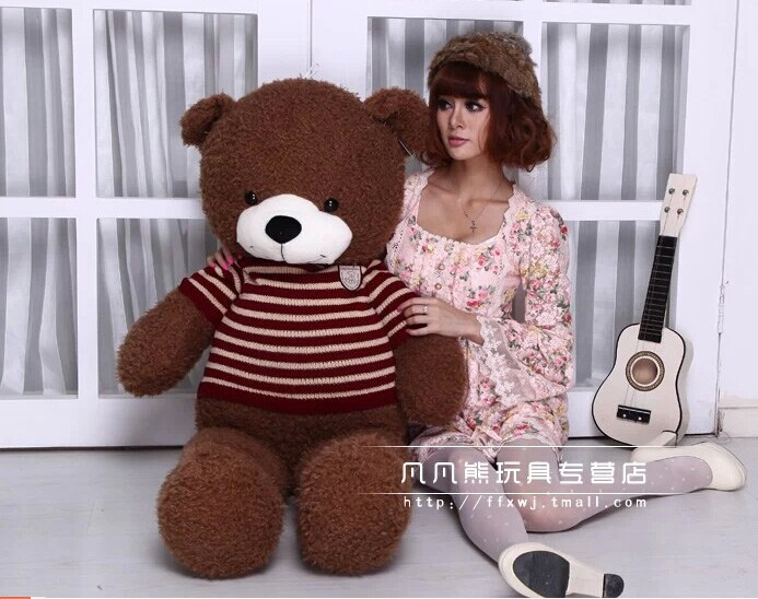 Stuffed animal 100cm brown Teddy bear plush toy bear doll throw pillow gift w3572 stuffed animal 180cm dark brown teddy bear plush toy soft doll throw pillow gift w2064