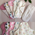 4Pcs/lot with A Beige Pad Pouch for Free Cloth Menstrual Sanitary Pad Reusable Cloth Panty Liner Washable Feminine Hygiene