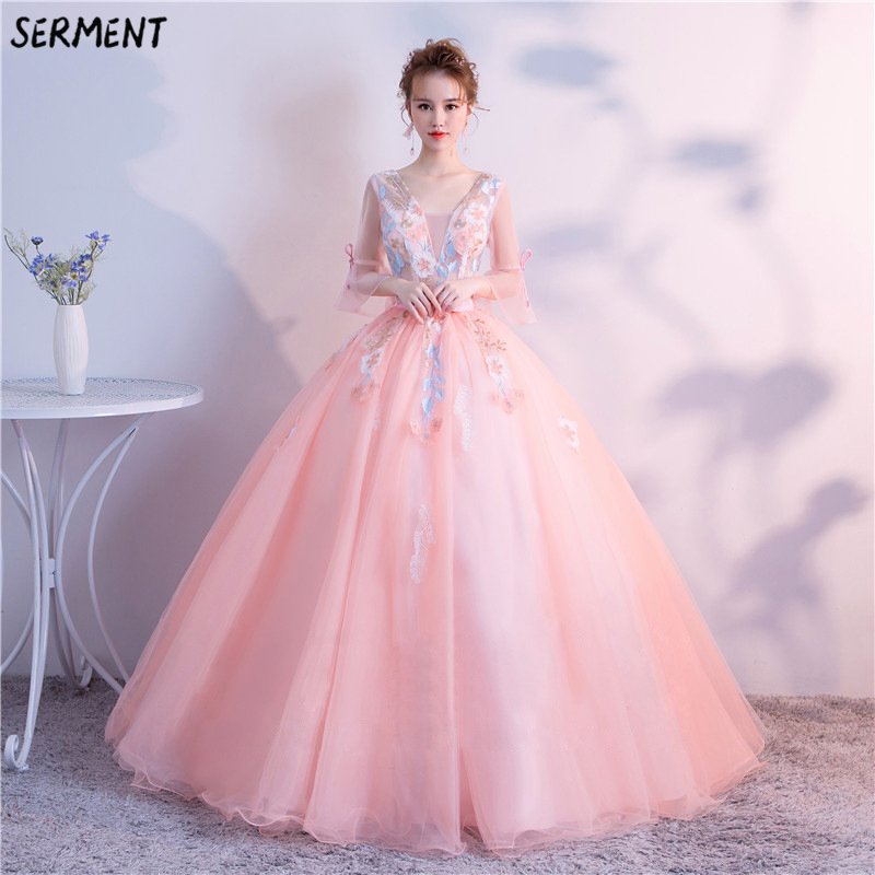 European and American   Prom     Dress   2019 New Summer Gradient Slim Slimming Performance One Word Shoulder   Dress   Supply