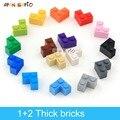 60 шт. DIY строительные блоки толстые цифры кирпичи 1 + 2 точки развивающие креативный Размеры совместим с 2357 пластиковые игрушки для детей