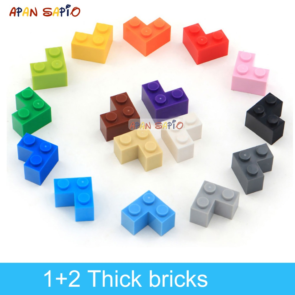 60pcs DIY Building Blocks Thick Figures Bricks 1+2 Dots Educational Creative Size Compatible With Lego Plastic Toys For Children