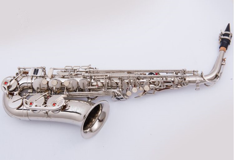 Brand new Nickel plated Saxophone High quality saxophone Alto French Selmer instruments R-54 model Saxofone Sax accessories new 2017 senior french brand conn selmer black lacquer alto saxophone e as 710 matt encarved alto sax with mouthpiece