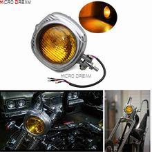4.5 Motorcycles Sealed Beam Vintage Retro Headlight Polish Electroline Style Head Light For Harley Touring Softail Cafe Racer
