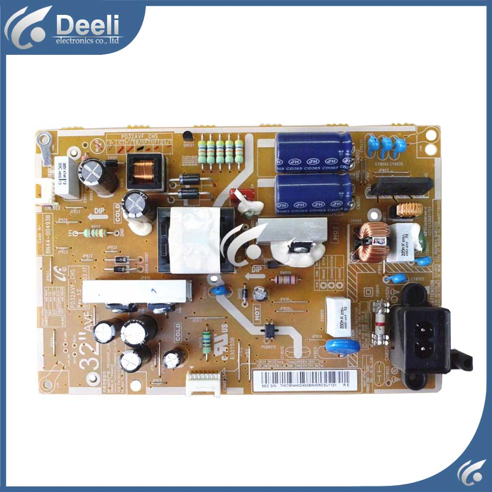 good Working original used for power supply board UA32EH5080R UA32EH5300R BN44-00493B 95% new used board good working original for power supply board la40b530p7r la40b550k1f bn44 00264a h40f1 9ss board